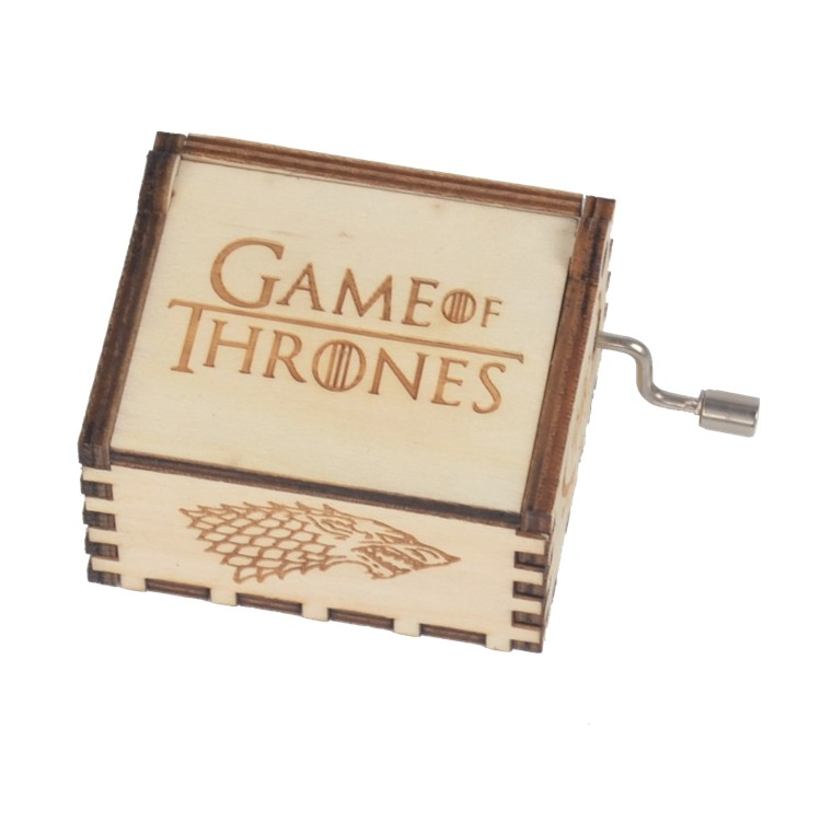 NUTAKE Wooden hand crank game of thrones music box 55805101-1