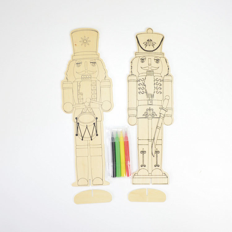 Wooden Nutcracker set 2 kits drawing toy 55851001