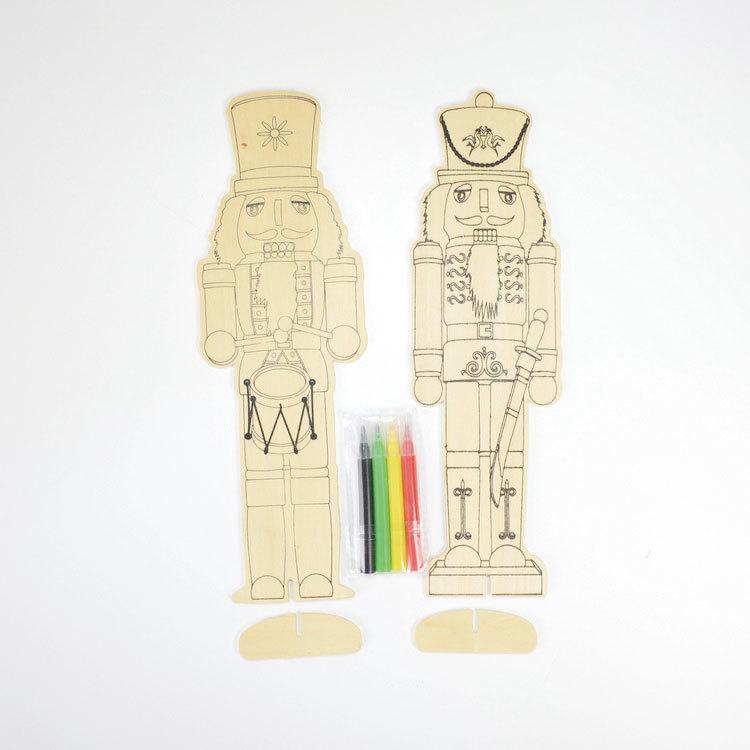 Wooden Nutcracker set 2 kits drawing toy 55851001
