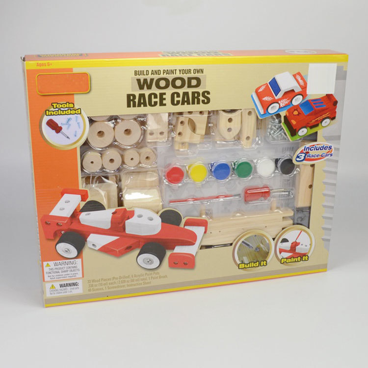 Wooden build car toy wooden assembled toy car 55851046
