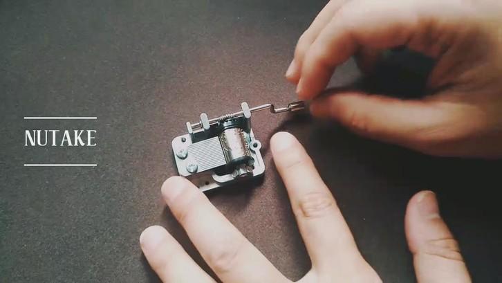 18 note metal handle custom made hand crank music box mechanism 10188003-1