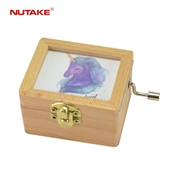 NUTAKE antique wooden music box factory best rated-22
