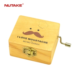 NUTAKE antique wooden music box factory best rated-21