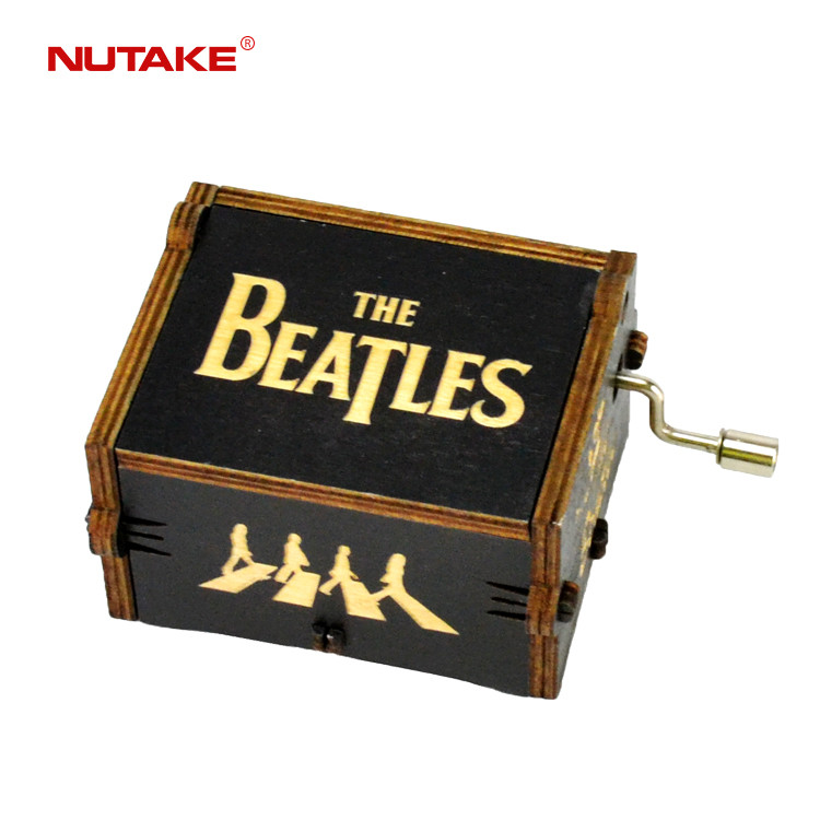 The beatles new black hey jude little wood music box 55805102-07