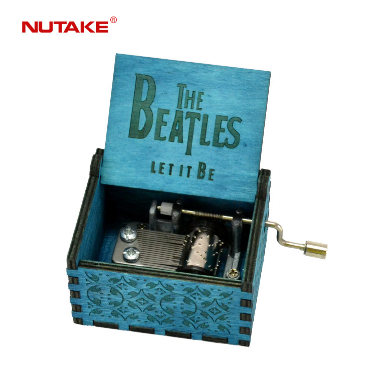 Let it be hey jude crank blue colour beatles music box 55805101-06