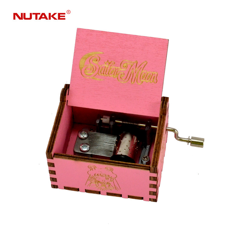 Sailor Moon personalized pink hand crank box with custom song 55805101-08