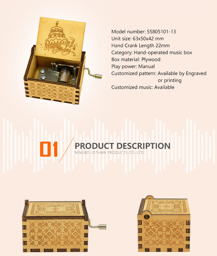 Wholesale mini music box hand crank Supply buy now-2