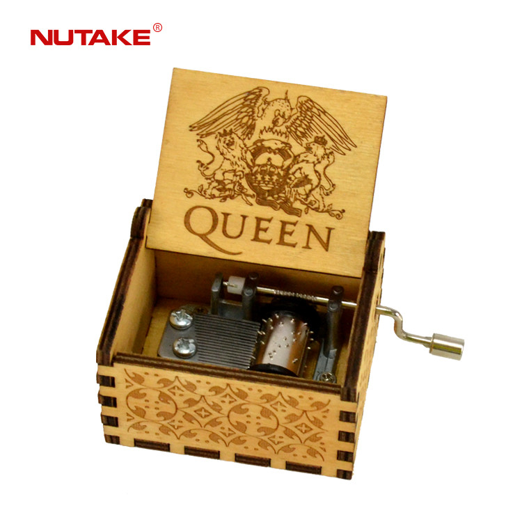 Custom made QUEEN hand crank music box 55805101-19