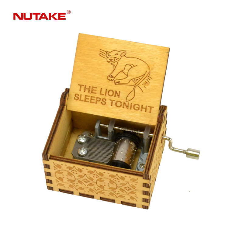 The Lion Sleeps Tonight movie theme song wooden music box zhejiang 55805101-29
