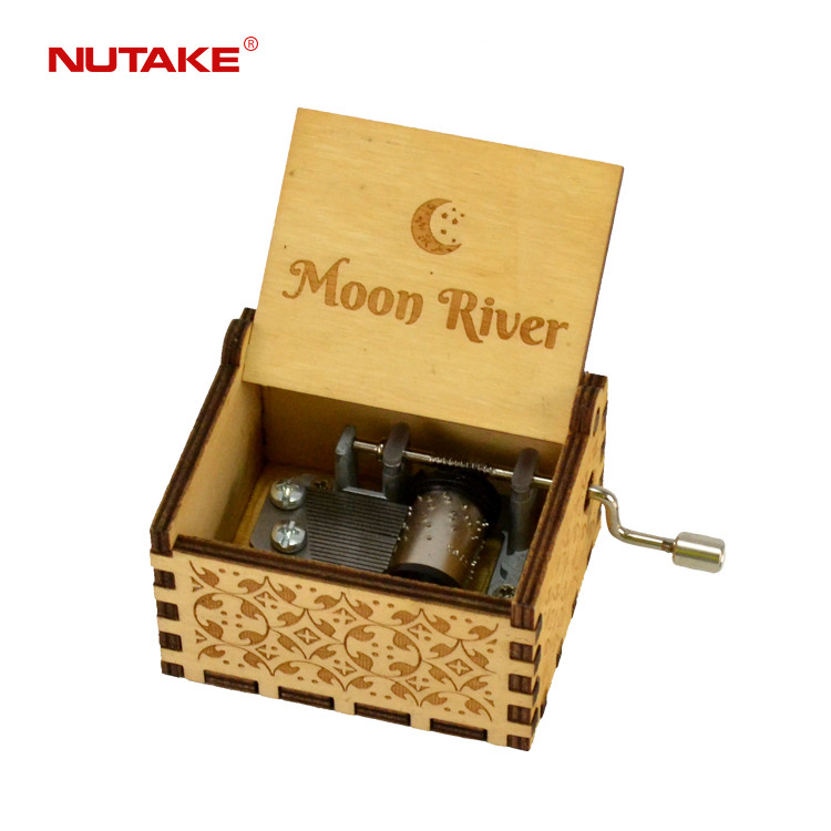 Moon river themed wooden craft music box 55805101-30