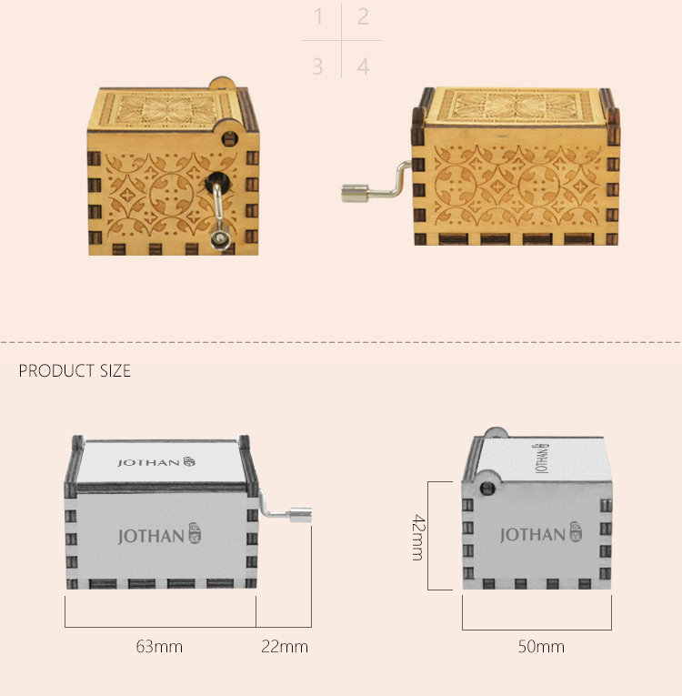 NUTAKE Best mini hand crank music box manufacturers bulk production-3