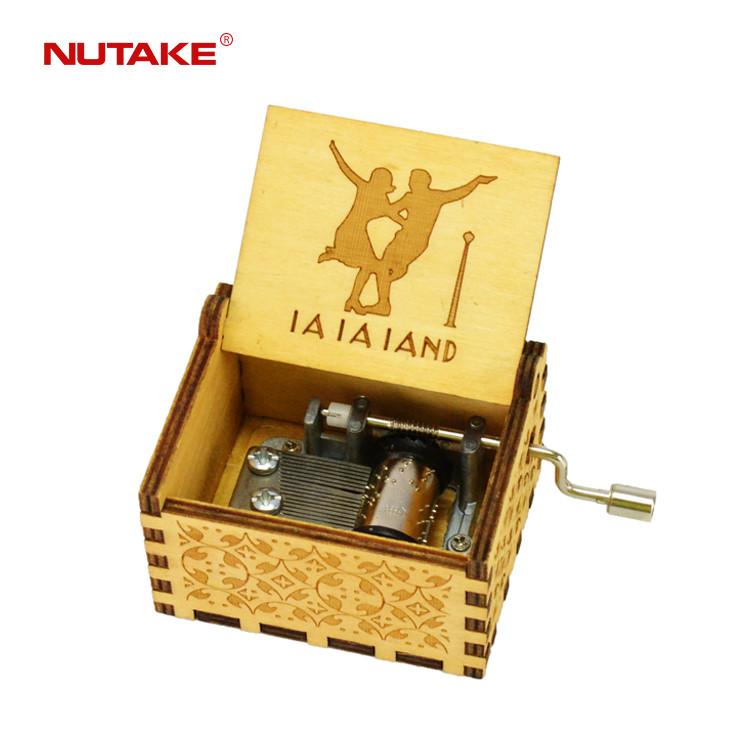 La la land handmade wooden carving craft music box 55805101-36