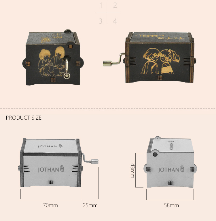 NUTAKE wooden box for music box Supply manufacturing site-3