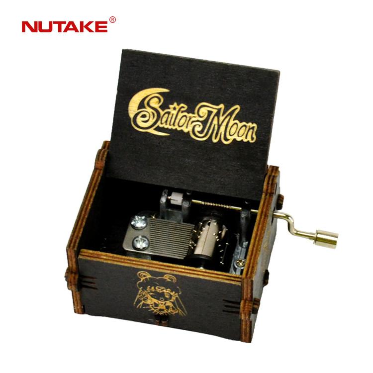 Wholesale wooden handicraft 18 note crank music box 55805102-03