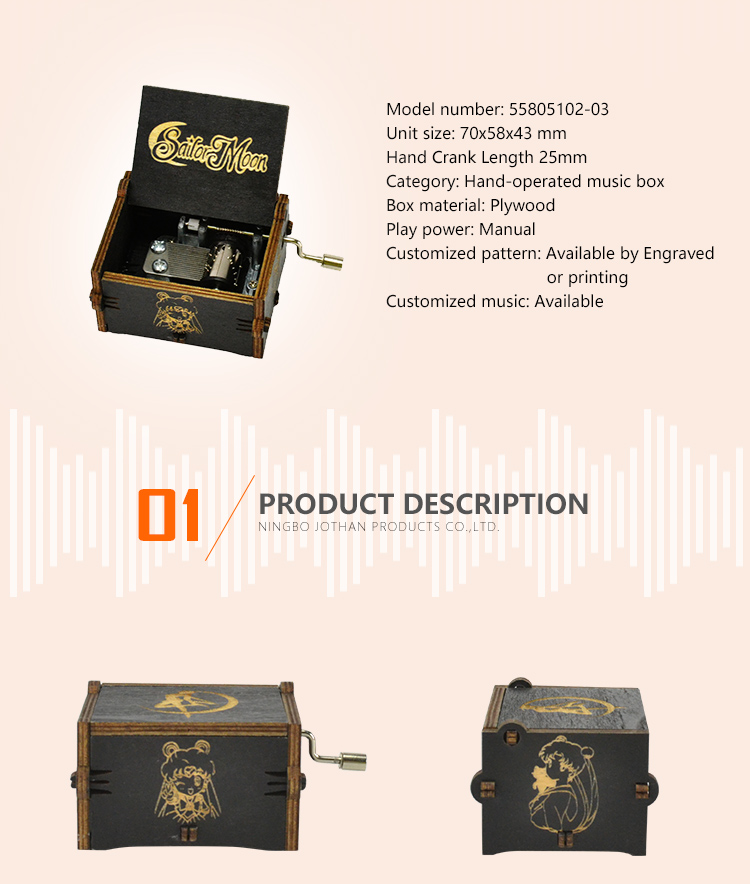 High-quality small hand crank music box factory for sale-2