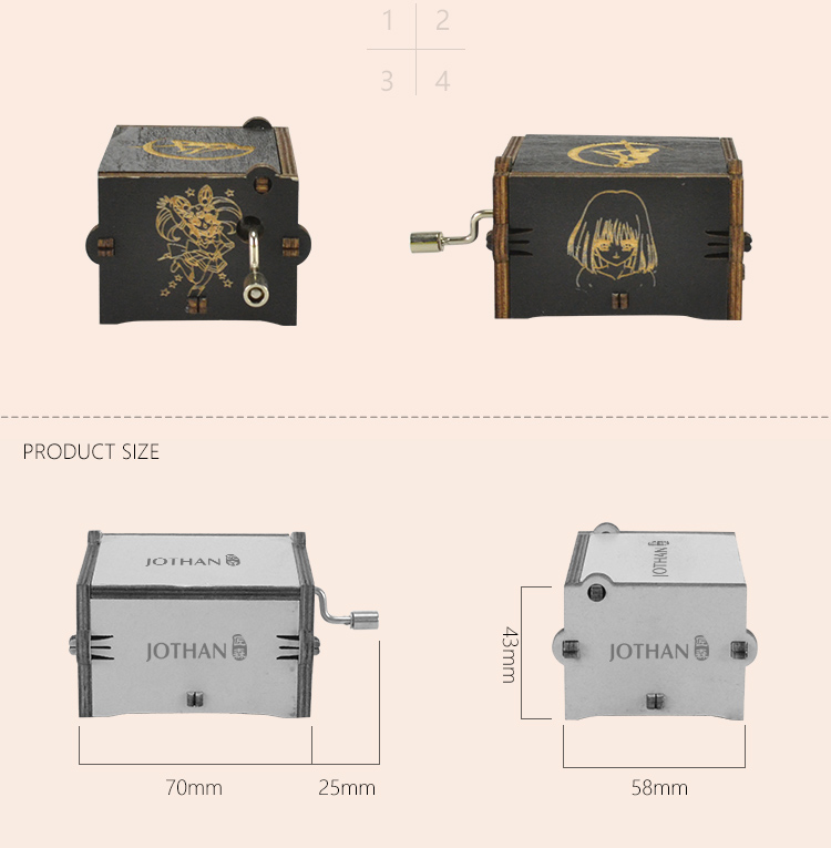High-quality small hand crank music box factory for sale-3