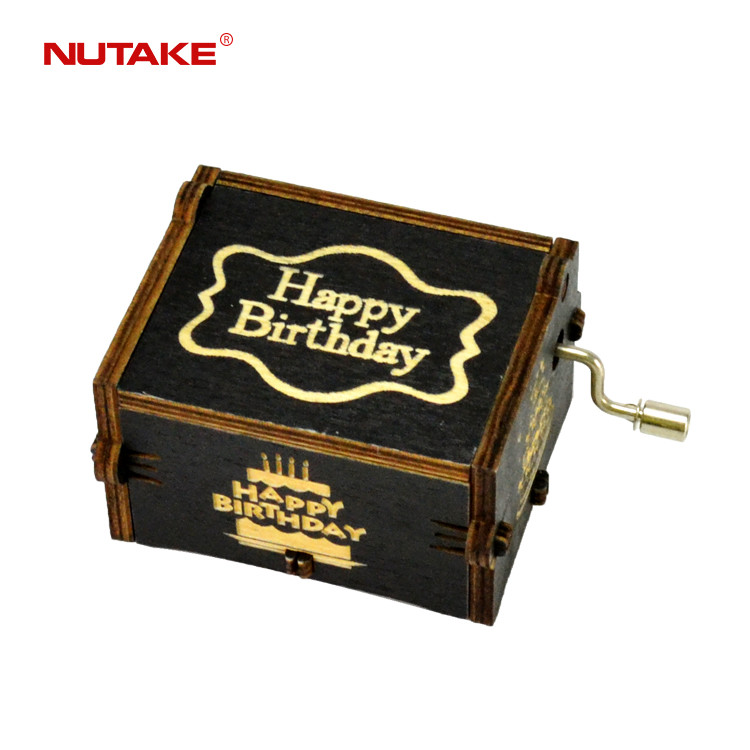 Mini happy birthday wooden music gift box(Mini wooden happy birthday music box gifts) 55805102-04