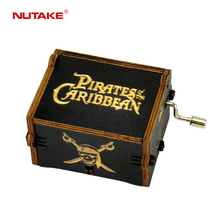 Ningbo Jothan factory sell Pirates of the Caribbean wooden custom caja music box 55805102-06