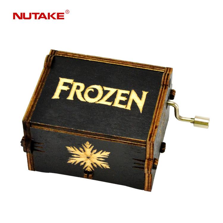 Wood art Custom song made Frozen music box 55805102-10