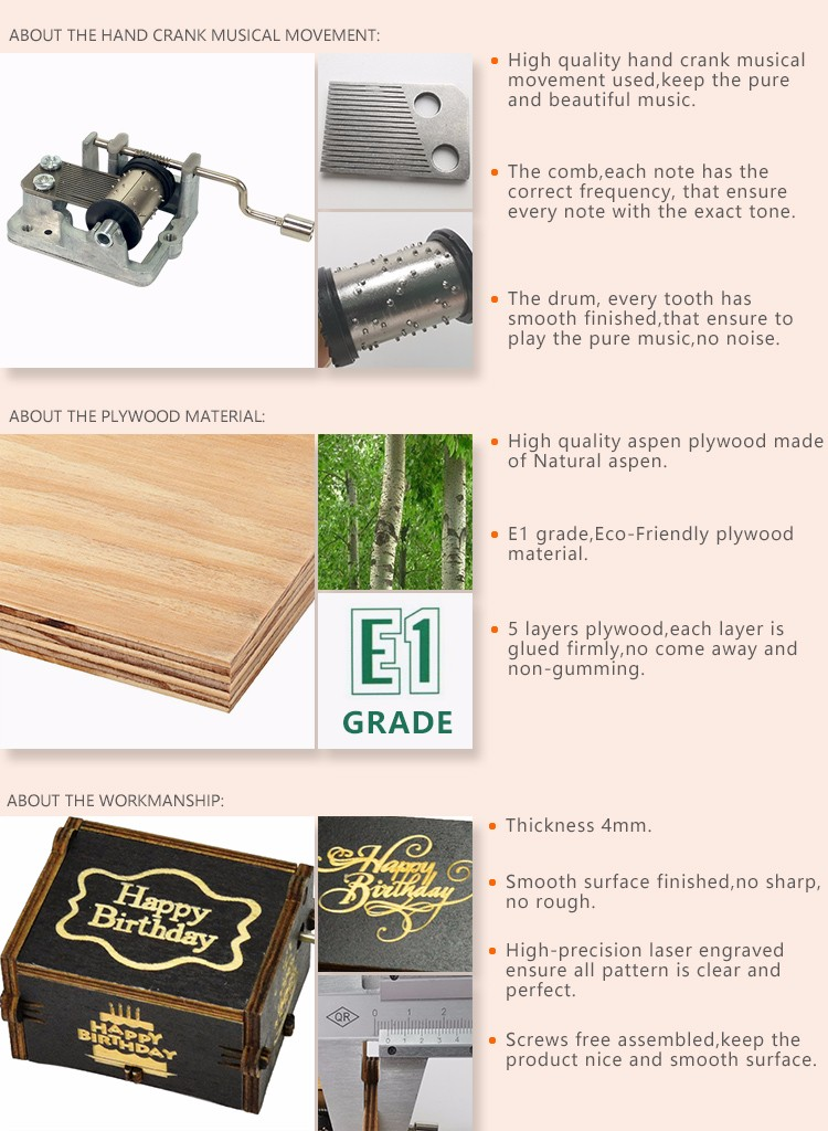Latest engraved music box for business top rated-5