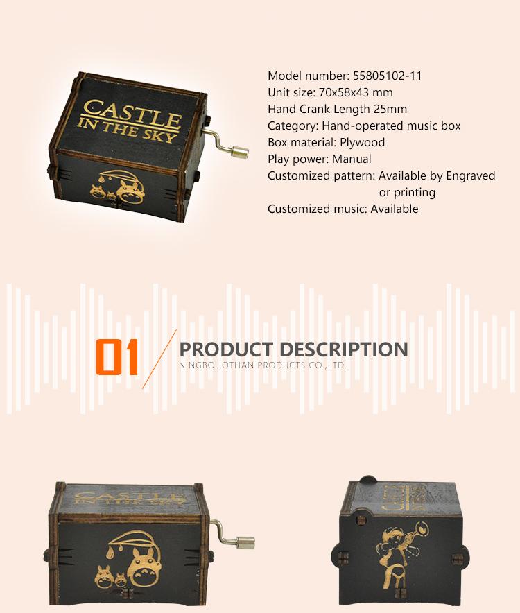 NUTAKE Top hand crank christmas music box manufacturers for sale-2