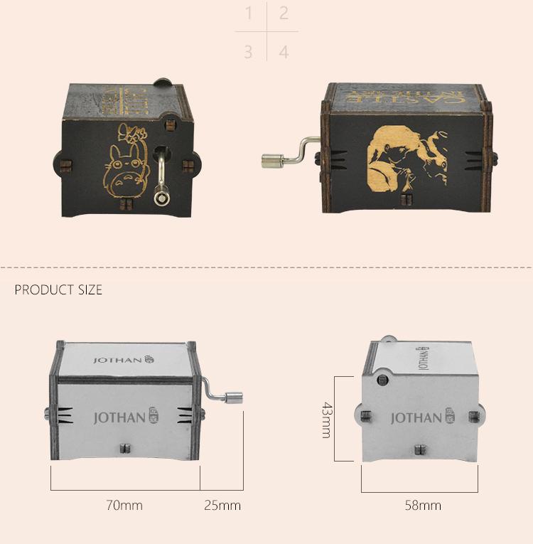 NUTAKE Top hand crank christmas music box manufacturers for sale-3