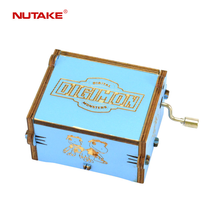 Wholesale Digital DIGIMON Monsters various designs mini handmade simple wooden music box 55805102-14