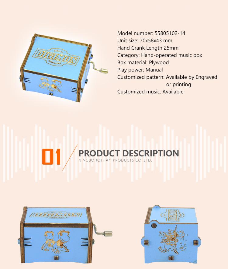 Wholesale hand crank wooden music box company bulk production-2