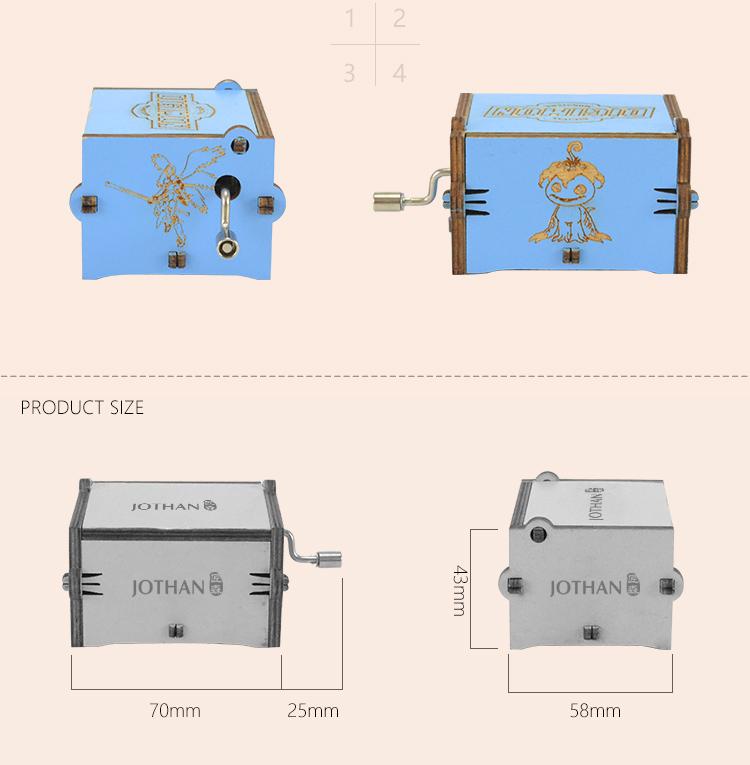 Wholesale hand crank wooden music box company bulk production-3