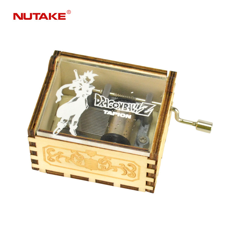 Wooden hand-cranked movie theme song handmade clair de lune music box 55805103-03