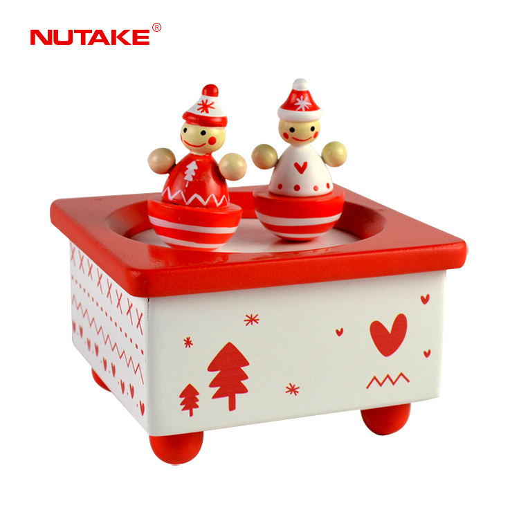 Traditional wooden Christmas gift dancing santa music box for Kids Children Toy 55803202