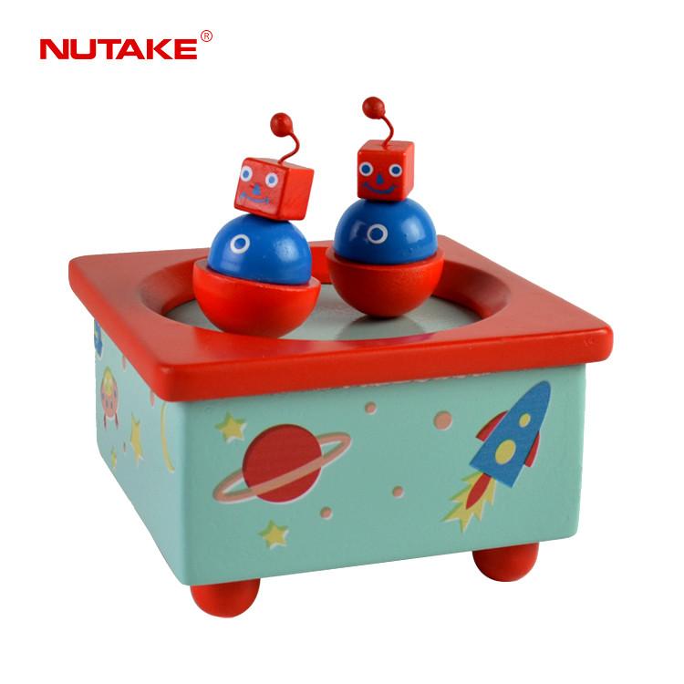 Wooden Child novel spinning sound box toy 55803209