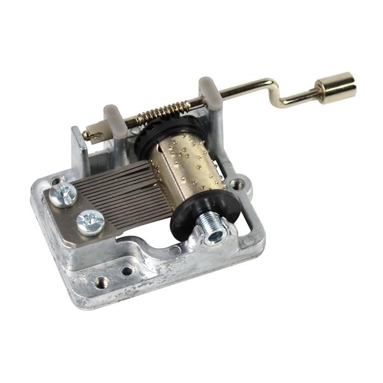 18 note custom tune hand crank music box mechanism 10188003M-04