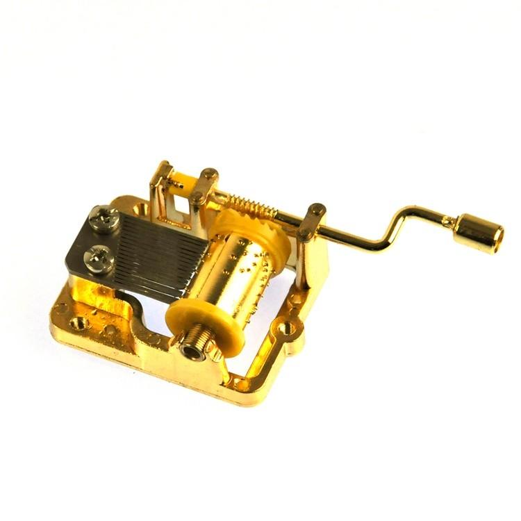 Gold plated yunsheng music boxes mechanism 10188003GM-01
