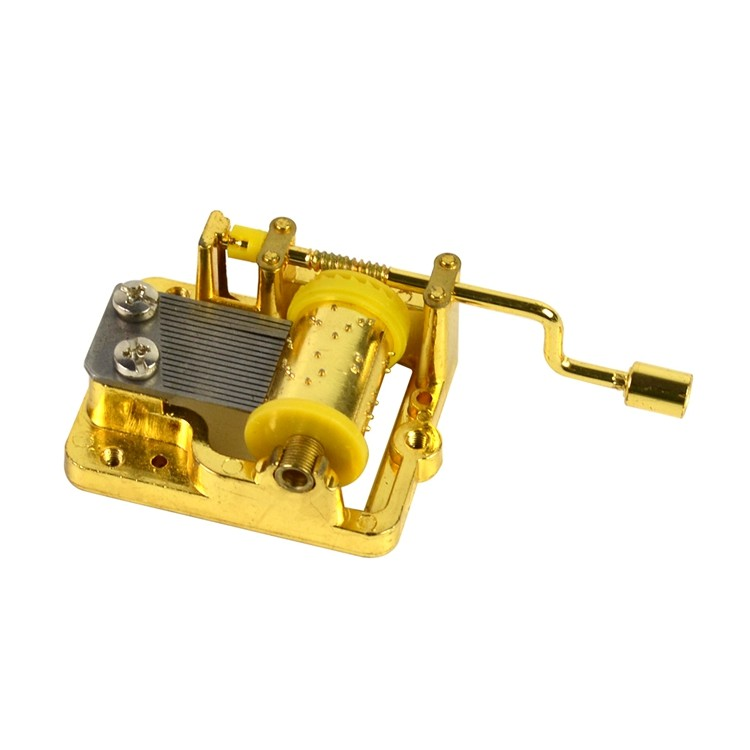 Wholesale plastic gold custom mechanism musical box movements 10188003GM-02