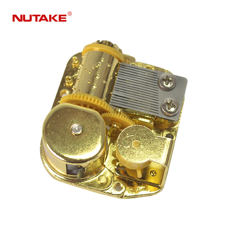 18 note golden metal movement music box 10188002,2