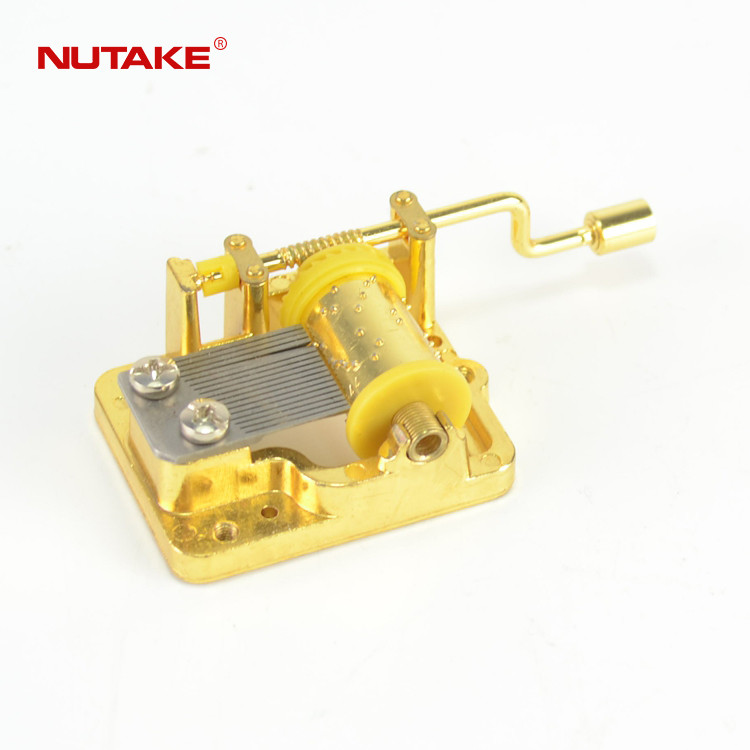 18 note golden hand crank music box movements for crafts 10188003GM-1,1