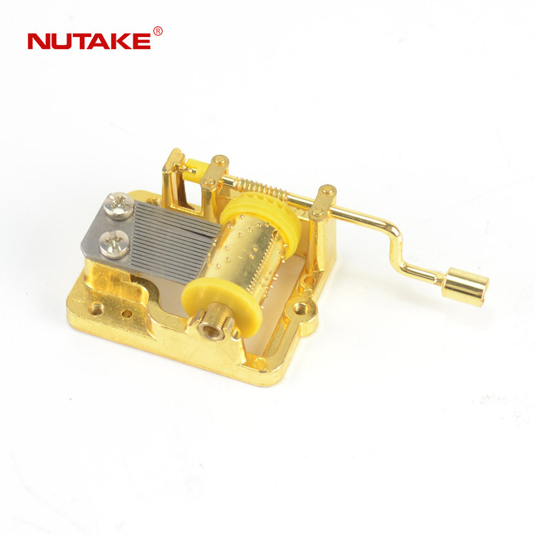 18 note golden hand music box crank 10188003GM-1,2