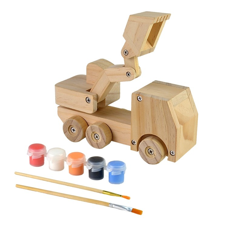 Wooden kids diy painting and assemble toys set 52651001