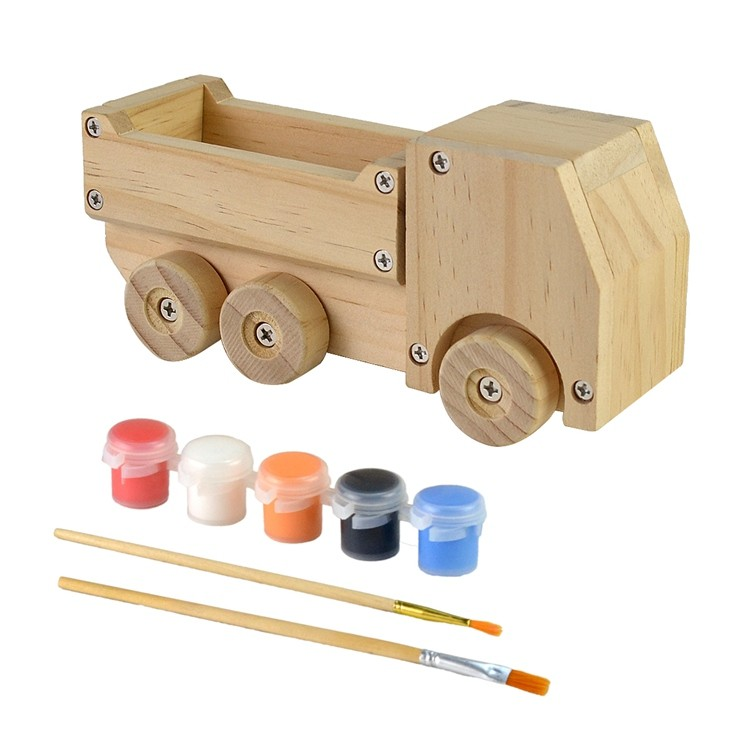 Wooden kids diy painting and assemble toys set 52651002