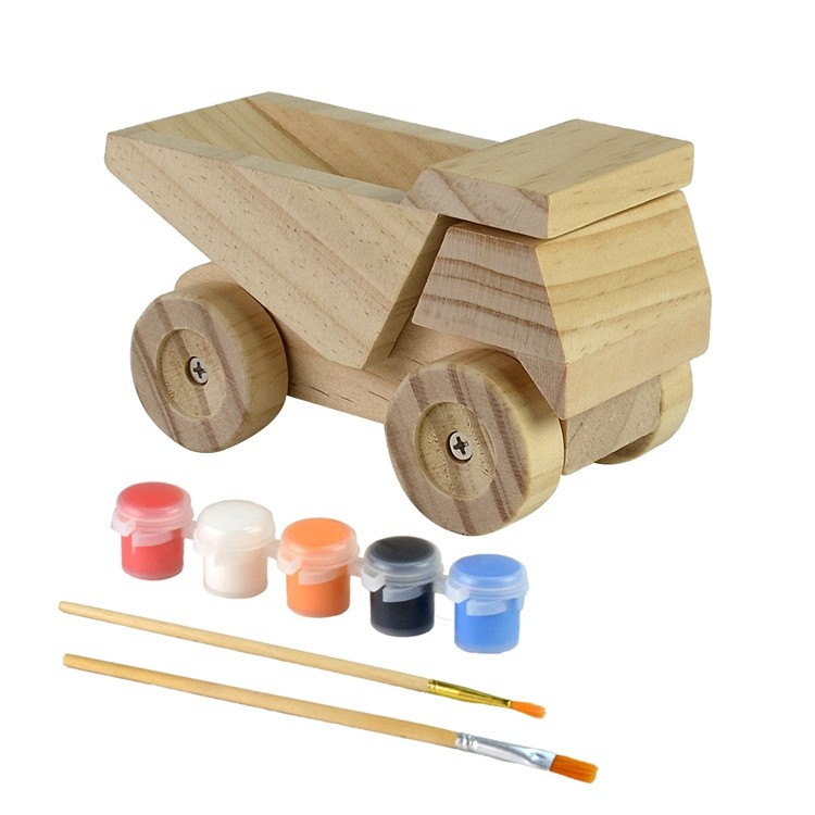 Wooden kids diy painting and assemble toys set 52651003