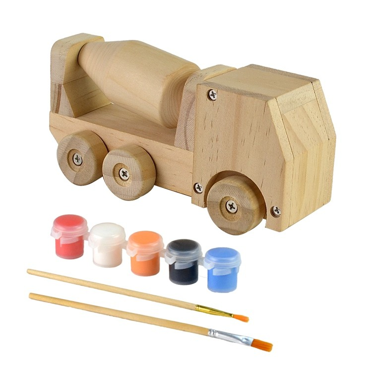 Wooden kids diy painting and assemble toys set 52651004
