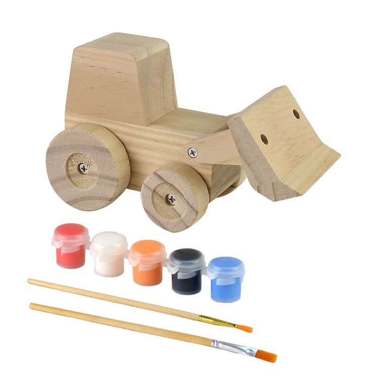 Wooden kids diy painting and assemble toys set 52651005