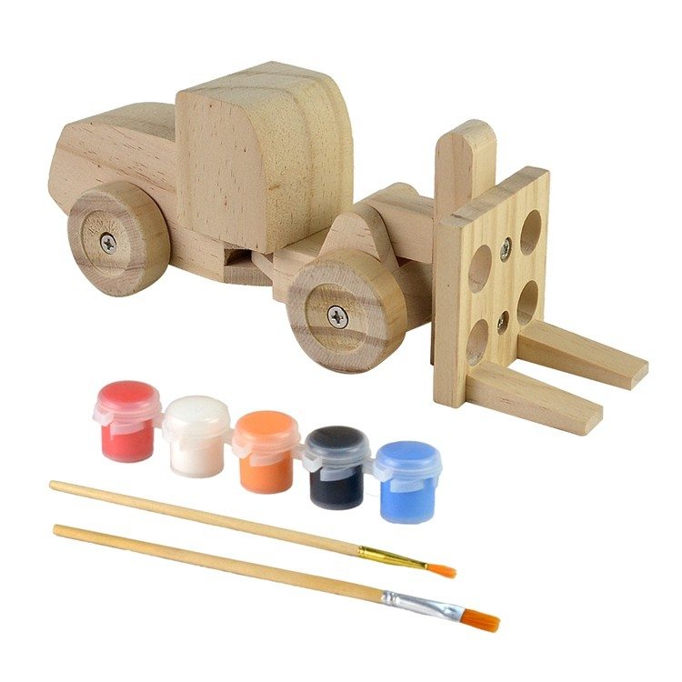 Wooden kids diy painting and assemble toys set 52651006