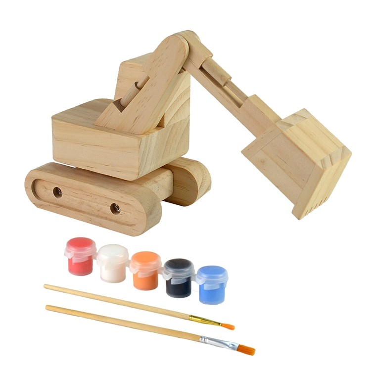 Wooden kids diy painting and assemble toys set 52651008