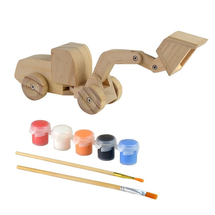 Wooden kids diy painting and assemble toys set 52651011
