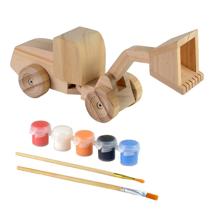 Wooden kids diy painting and assemble toys set 52651012