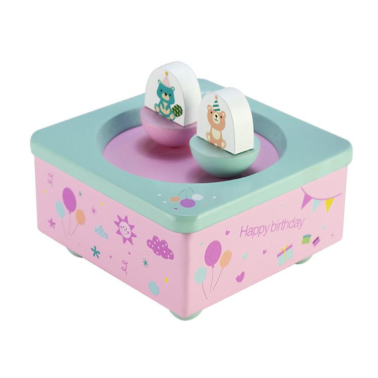 La Doyee Wooden Dancing Dolls Children Cute Music Box for Kids 55803201-04