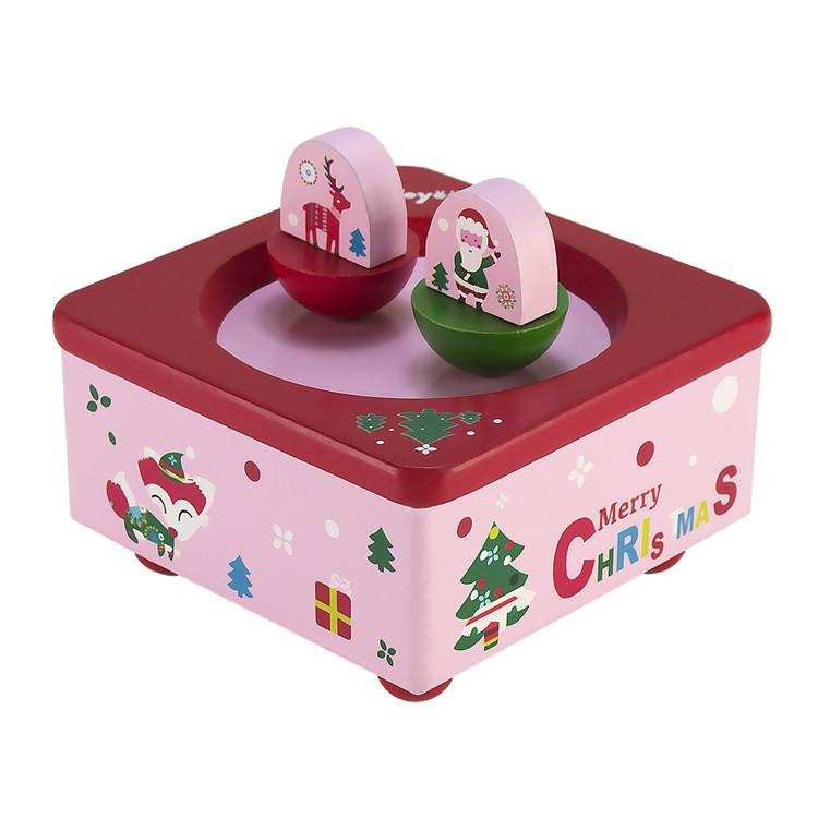 La doyee wooden Spinning music box for Children Christmas gift 55803201-05