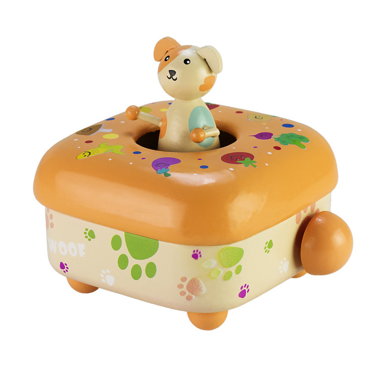 Wooden Children Music box 55803401-03